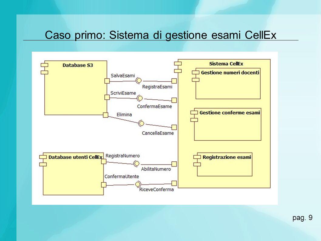 Caso primo: Sistema di gestione esami CellEx pag. 9