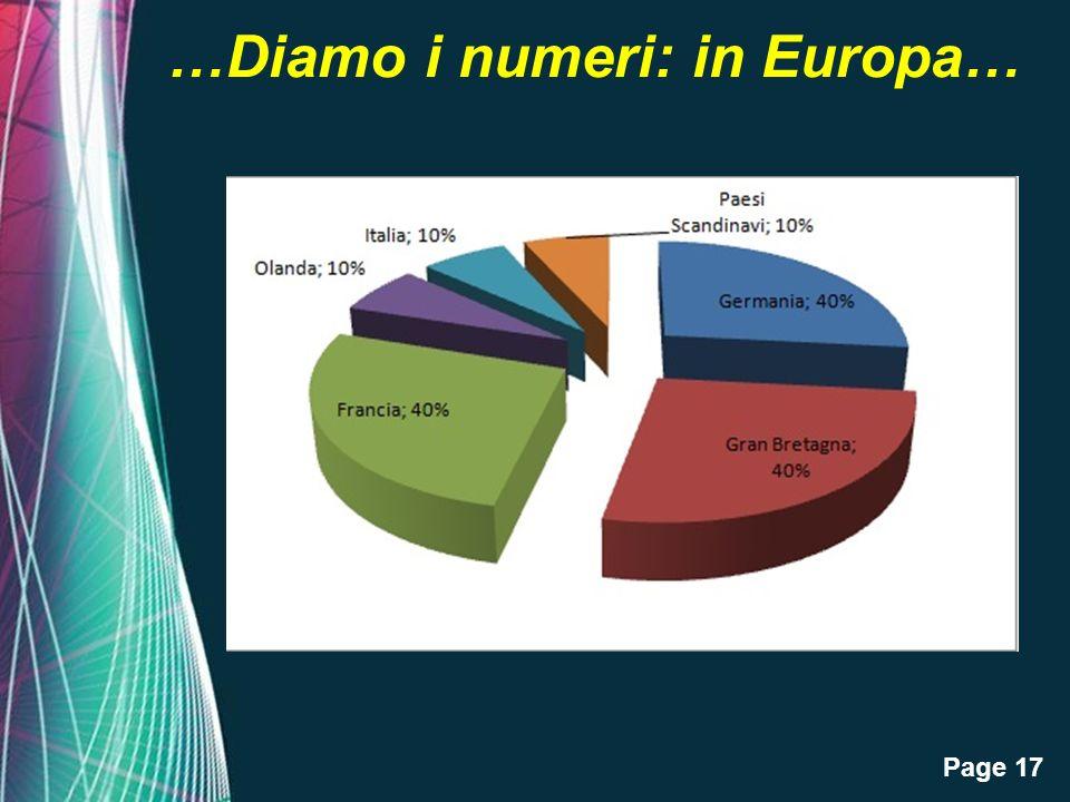 Page 17 …Diamo i numeri: in Europa…