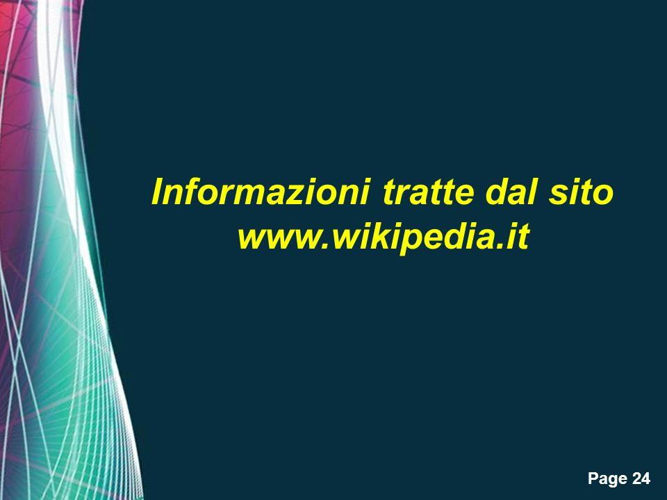 Page 24 Informazioni tratte dal sito www.wikipedia.it
