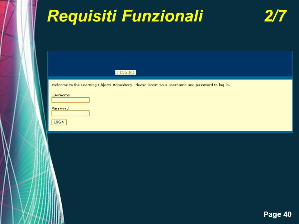 Page 40 Requisiti Funzionali 2/7