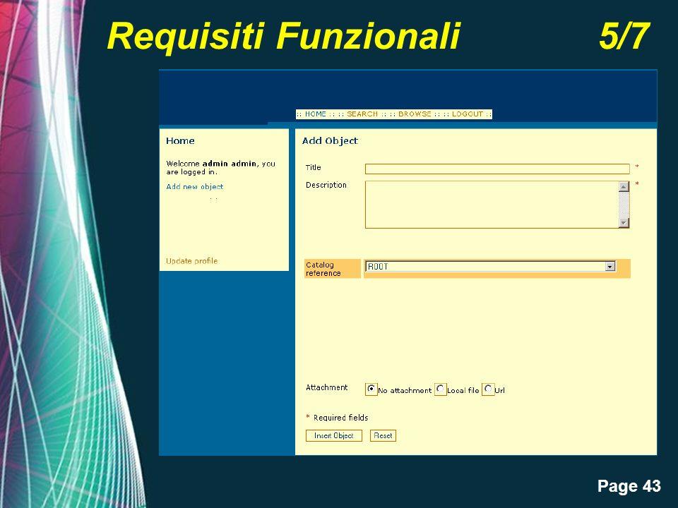 Page 43 Requisiti Funzionali 5/7