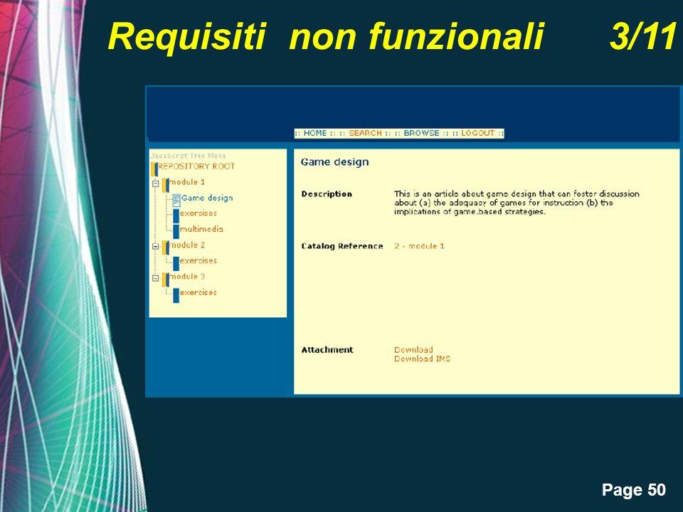 Page 50 Requisiti non funzionali 3/11