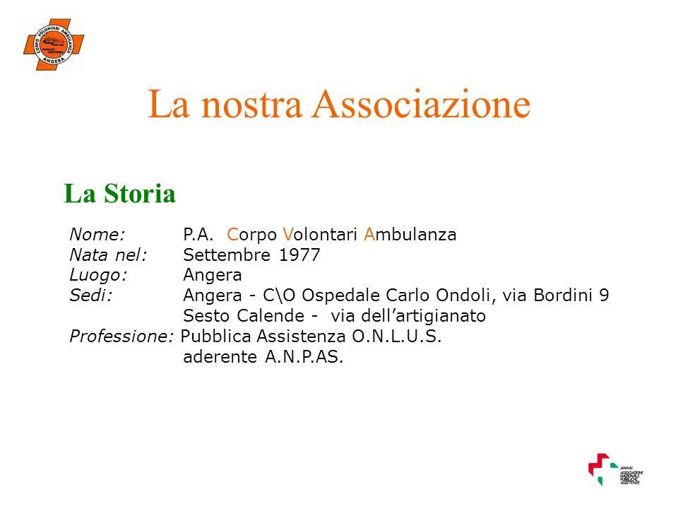 La nostra Associazione La Storia Nome: P.A.