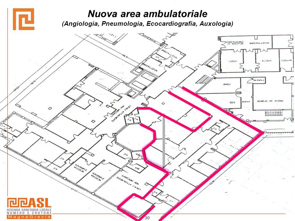 30 Nuova area ambulatoriale (Angiologia, Pneumologia, Ecocardiografia, Auxologia)