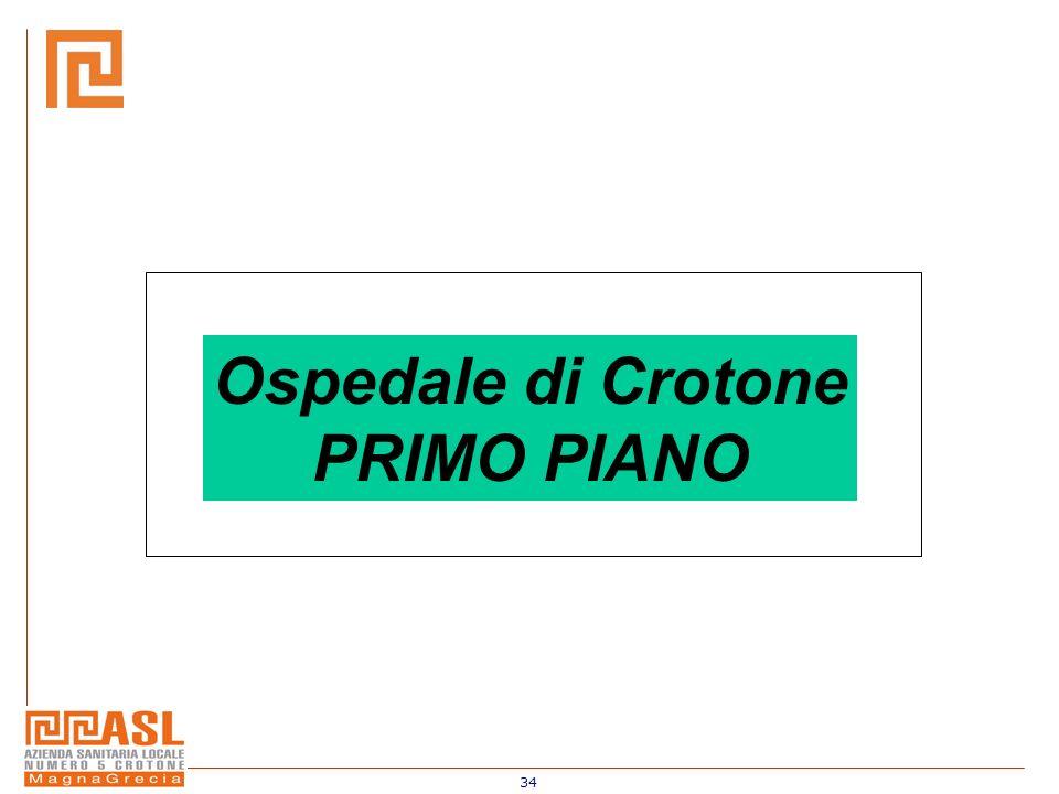 34 Ospedale di Crotone PRIMO PIANO