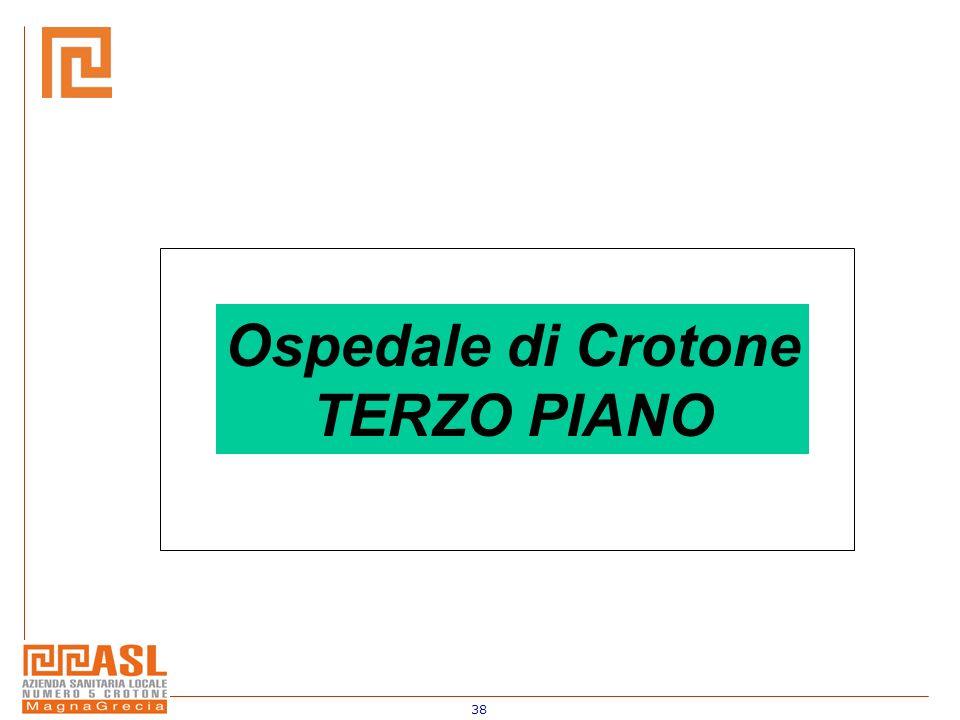 38 Ospedale di Crotone TERZO PIANO