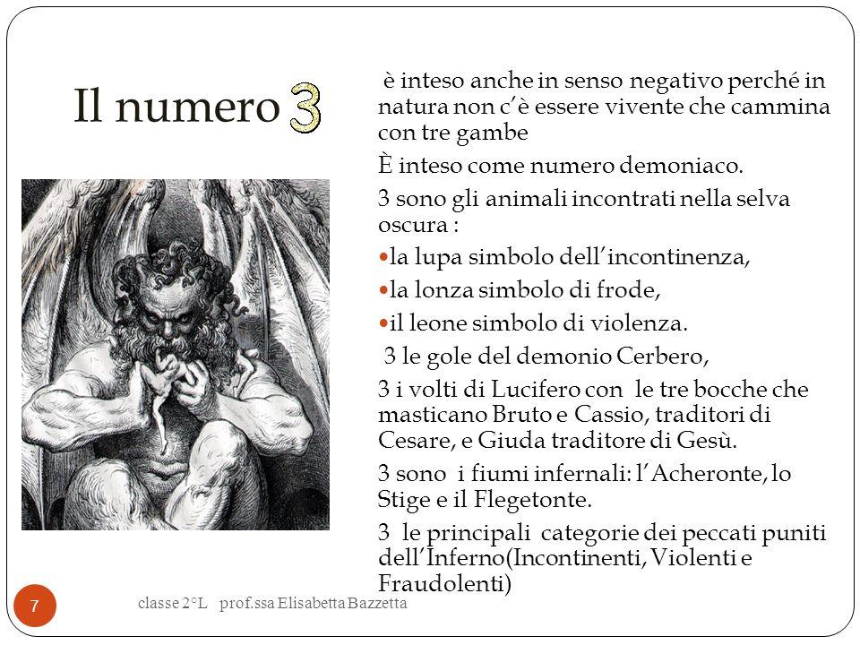 Il numero Richiama la Trinità 3 sono le Cantiche le Strofe sono di 3 versi e perciò dette TERZINE 3 sono i REGNI: Inferno,Purgatorio, Paradiso Tre son