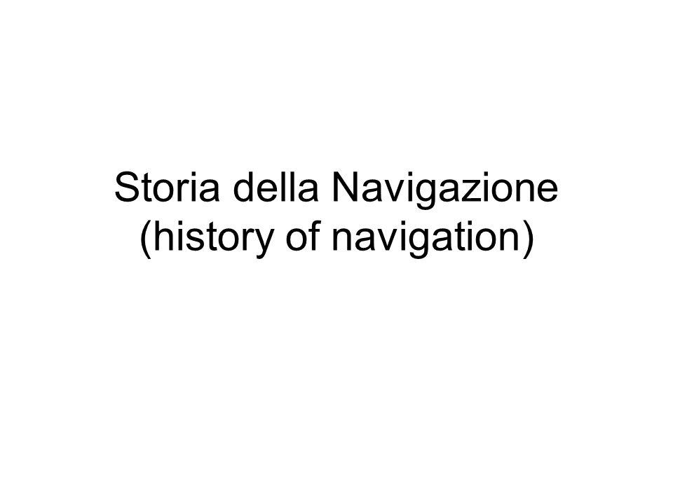 Storia della Navigazione (history of navigation)