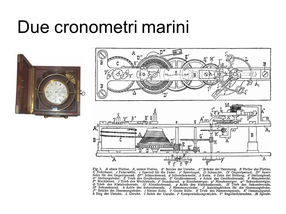 Due cronometri marini