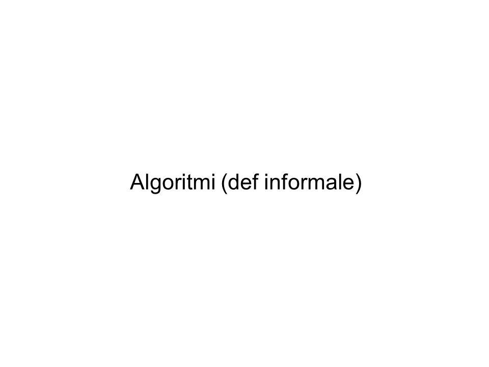 Algoritmi (def informale)