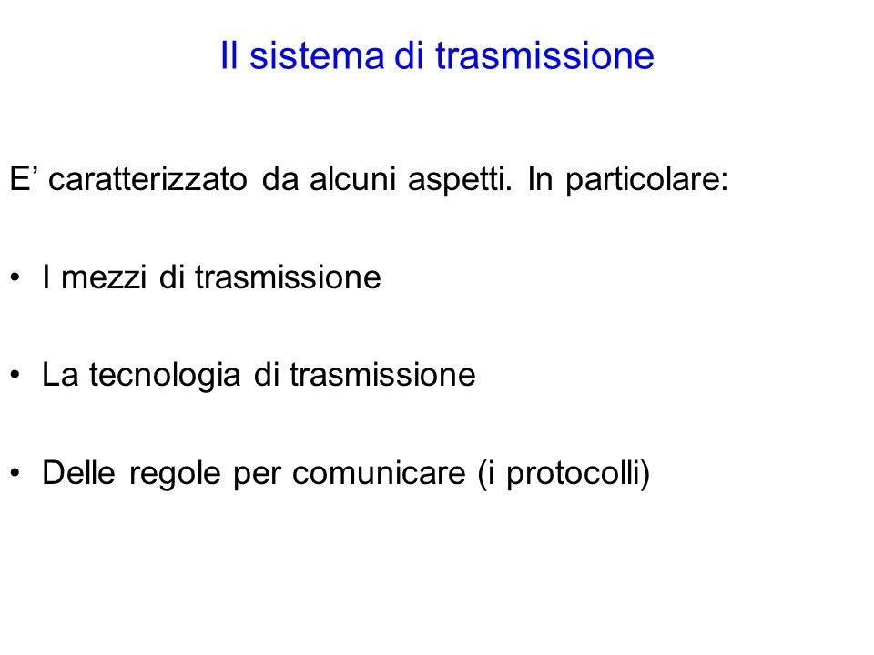 Il sistema di trasmissione E caratterizzato da alcuni aspetti.