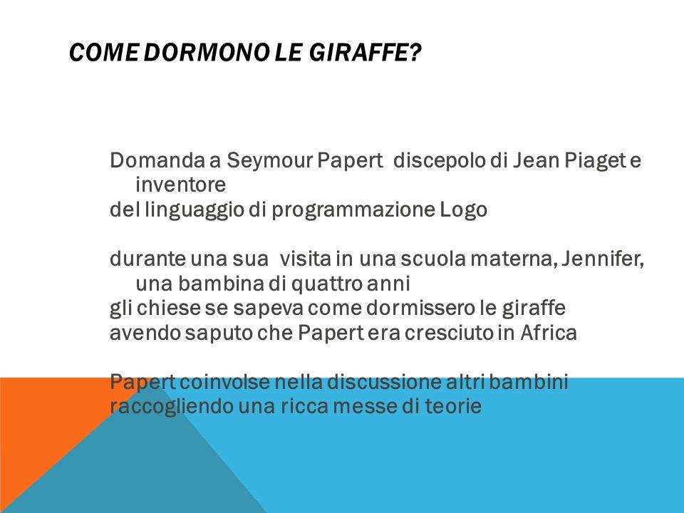 COME DORMONO LE GIRAFFE.