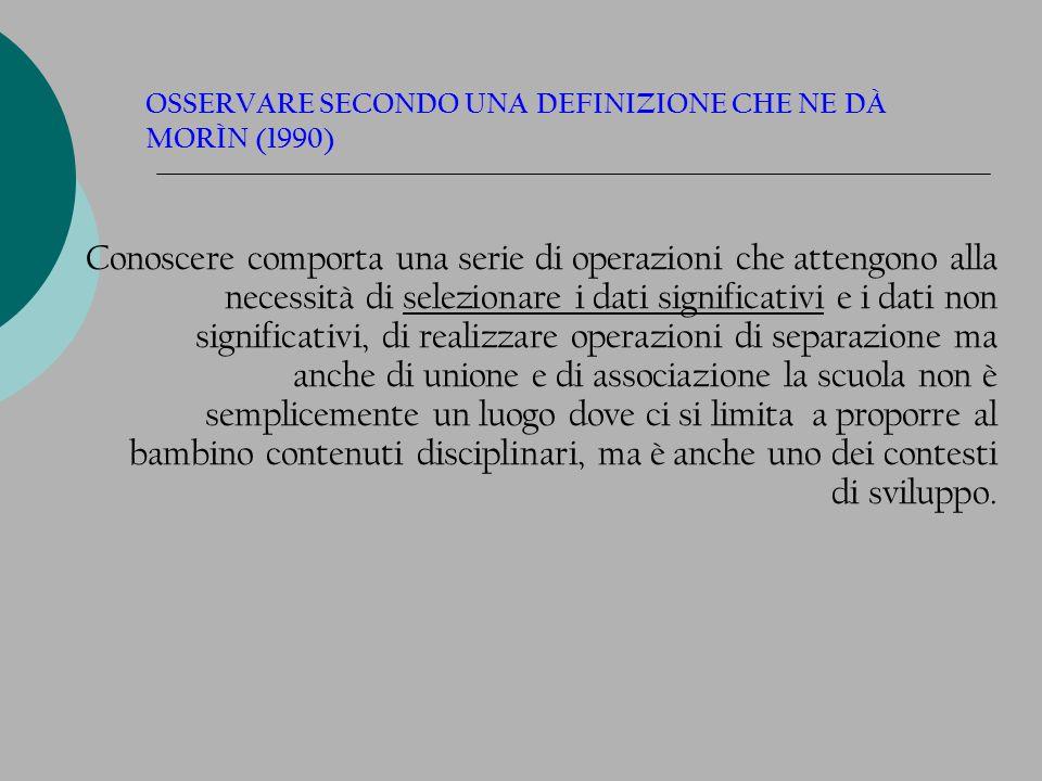 OSSERVARE … CON QUALI STRUMENTI .1. GUIDA 2. RESTITUISCONO SCIENTIFICITA 3.