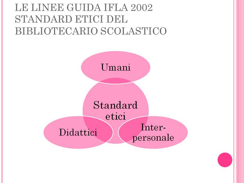 LE LINEE GUIDA IFLA 2002 STANDARD ETICI DEL BIBLIOTECARIO SCOLASTICO