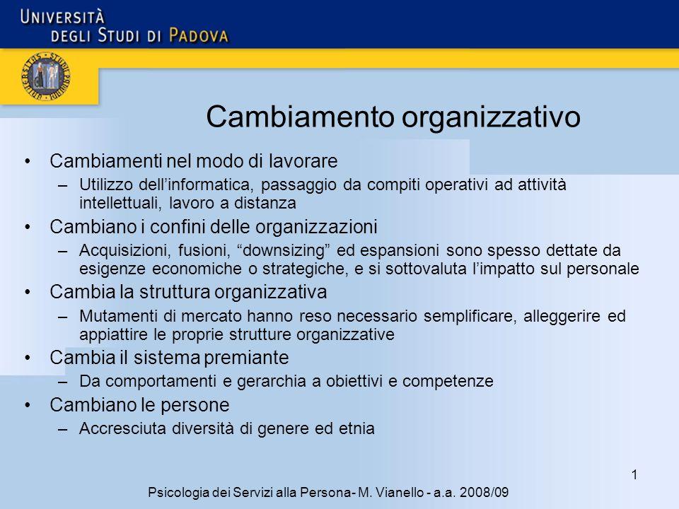 1 Psicologia dei Servizi alla Persona- M.Vianello - a.a.