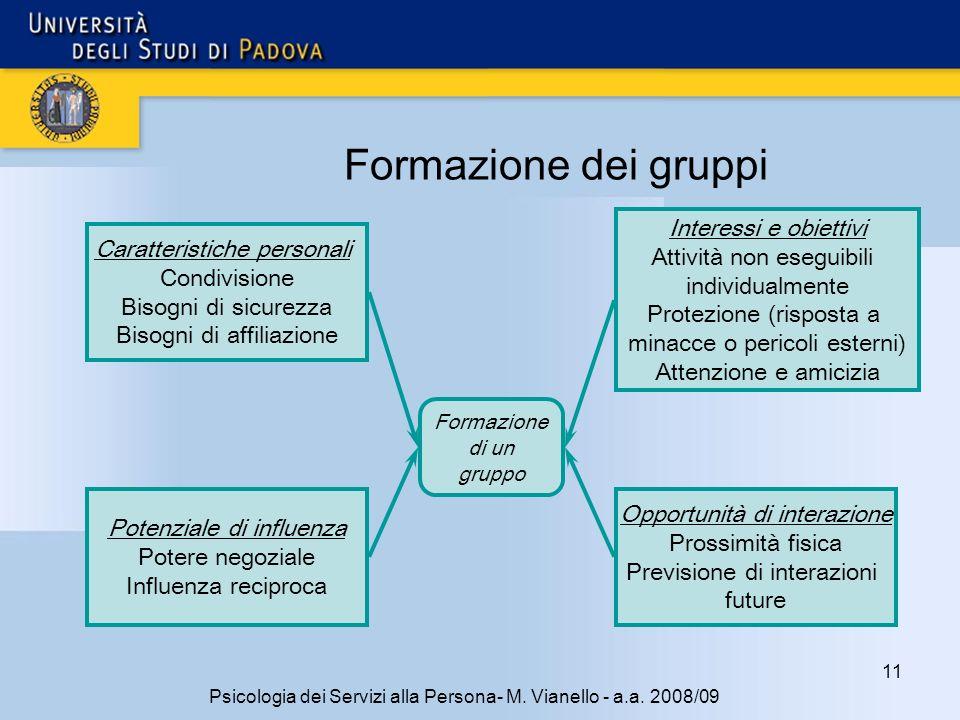 11 Psicologia dei Servizi alla Persona- M.Vianello - a.a.