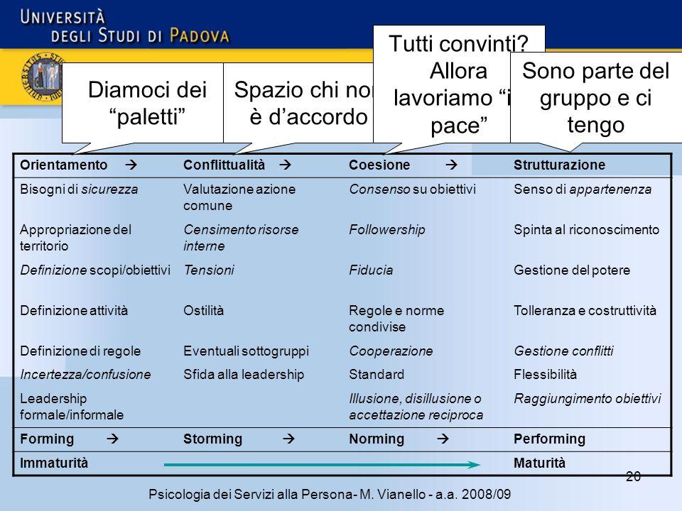 20 Psicologia dei Servizi alla Persona- M.Vianello - a.a.