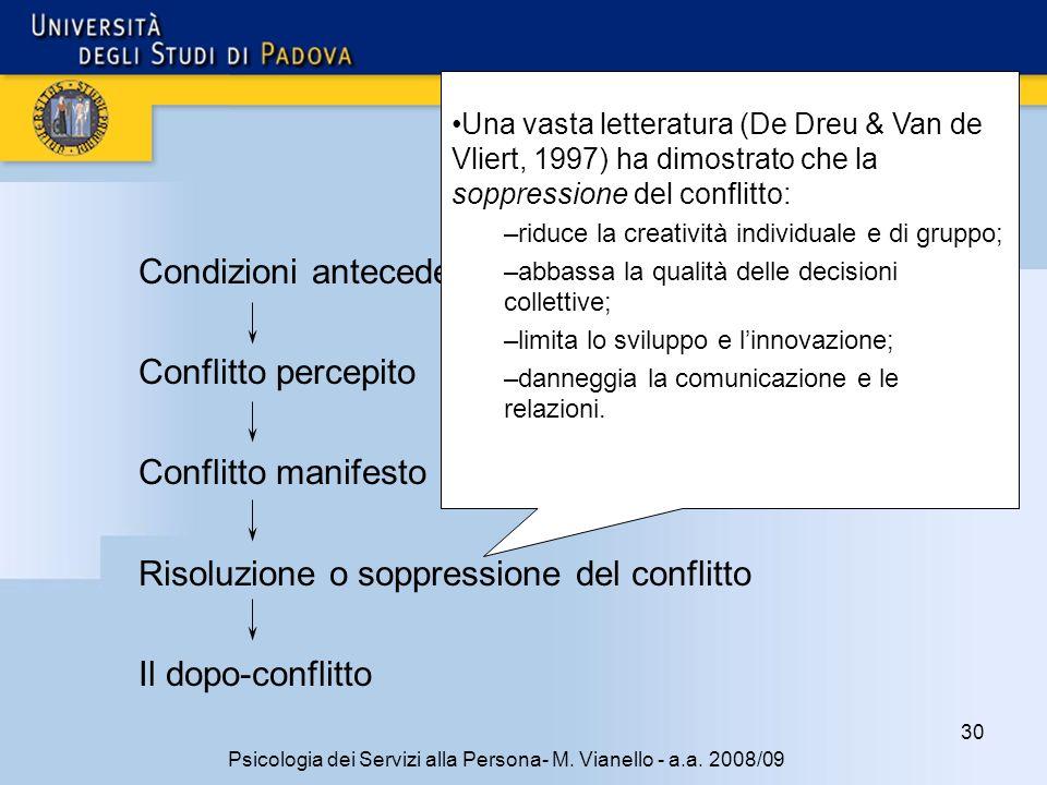 30 Psicologia dei Servizi alla Persona- M.Vianello - a.a.
