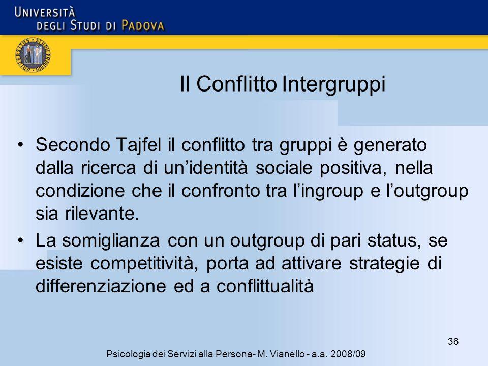 36 Psicologia dei Servizi alla Persona- M.Vianello - a.a.