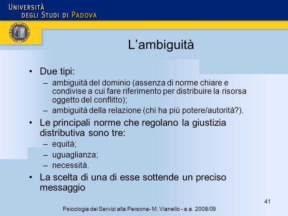 41 Psicologia dei Servizi alla Persona- M.Vianello - a.a.