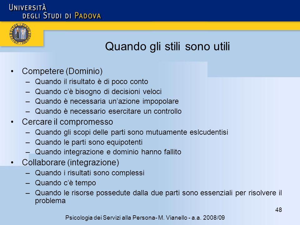 48 Psicologia dei Servizi alla Persona- M.Vianello - a.a.