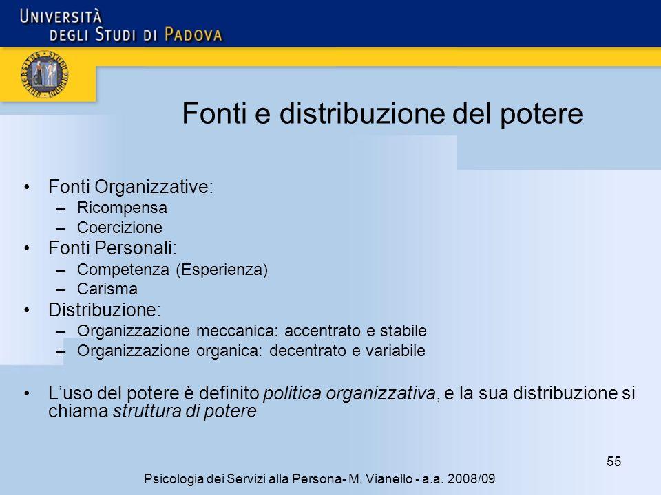55 Psicologia dei Servizi alla Persona- M.Vianello - a.a.