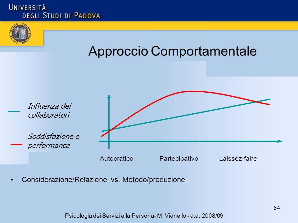 64 Psicologia dei Servizi alla Persona- M.Vianello - a.a.