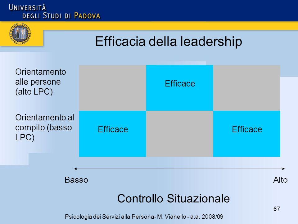 67 Psicologia dei Servizi alla Persona- M.Vianello - a.a.