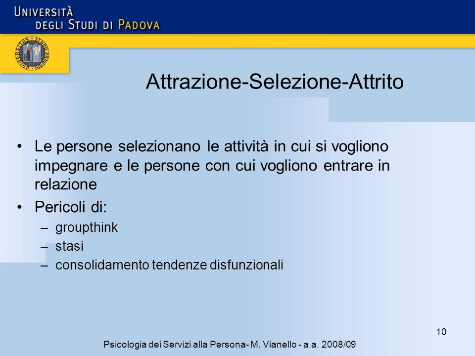 10 Psicologia dei Servizi alla Persona- M.Vianello - a.a.