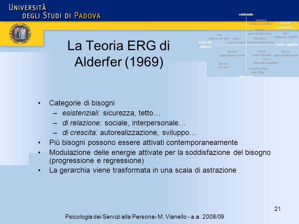 21 Psicologia dei Servizi alla Persona- M.Vianello - a.a.