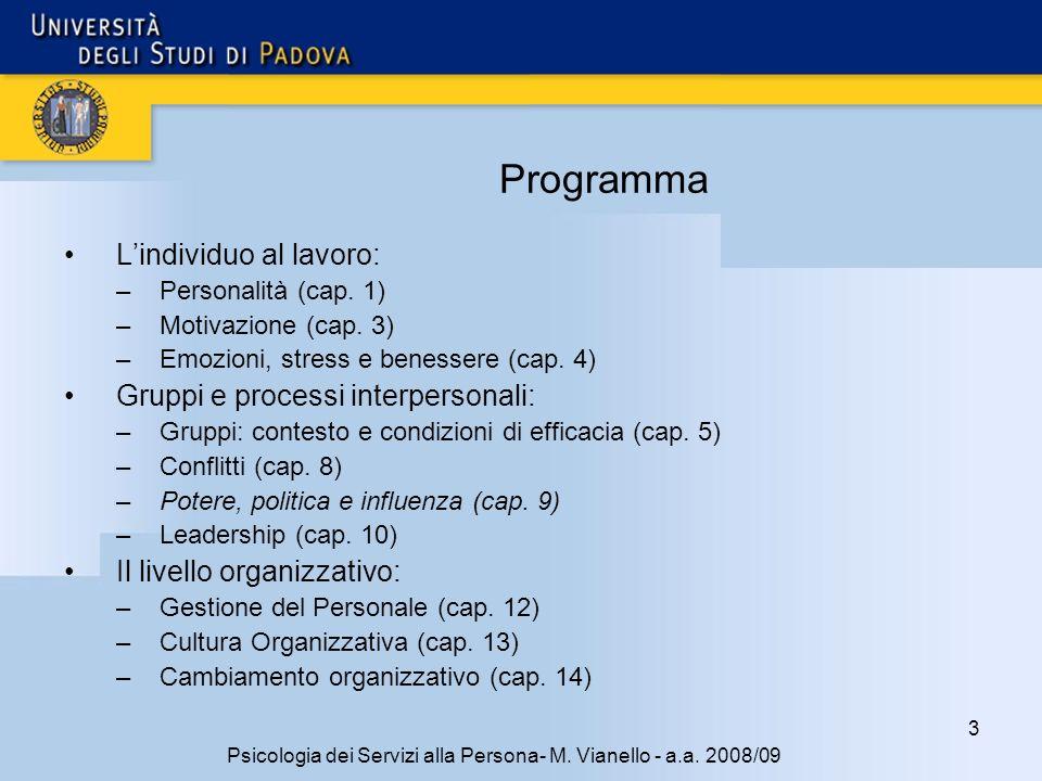 3 Psicologia dei Servizi alla Persona- M.Vianello - a.a.