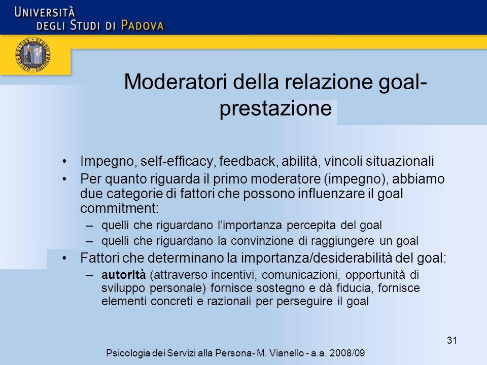 31 Psicologia dei Servizi alla Persona- M.Vianello - a.a.