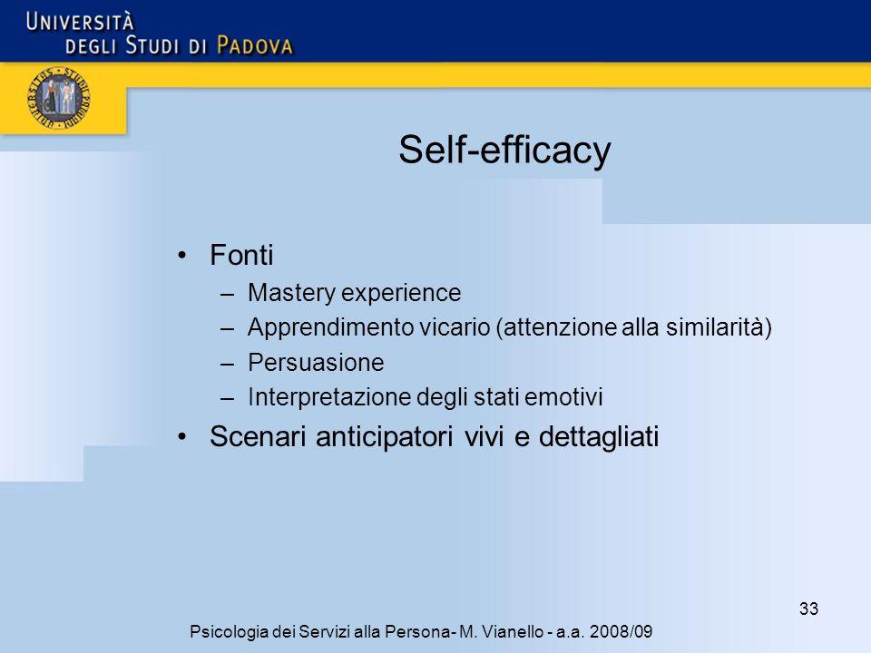 33 Psicologia dei Servizi alla Persona- M.Vianello - a.a.