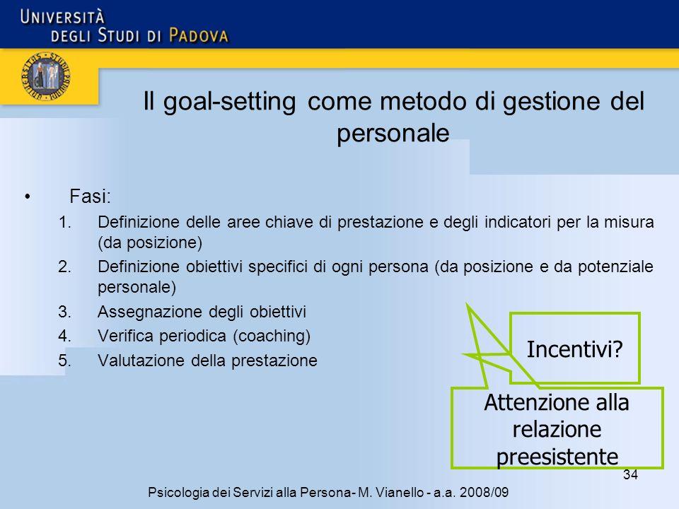 34 Psicologia dei Servizi alla Persona- M.Vianello - a.a.