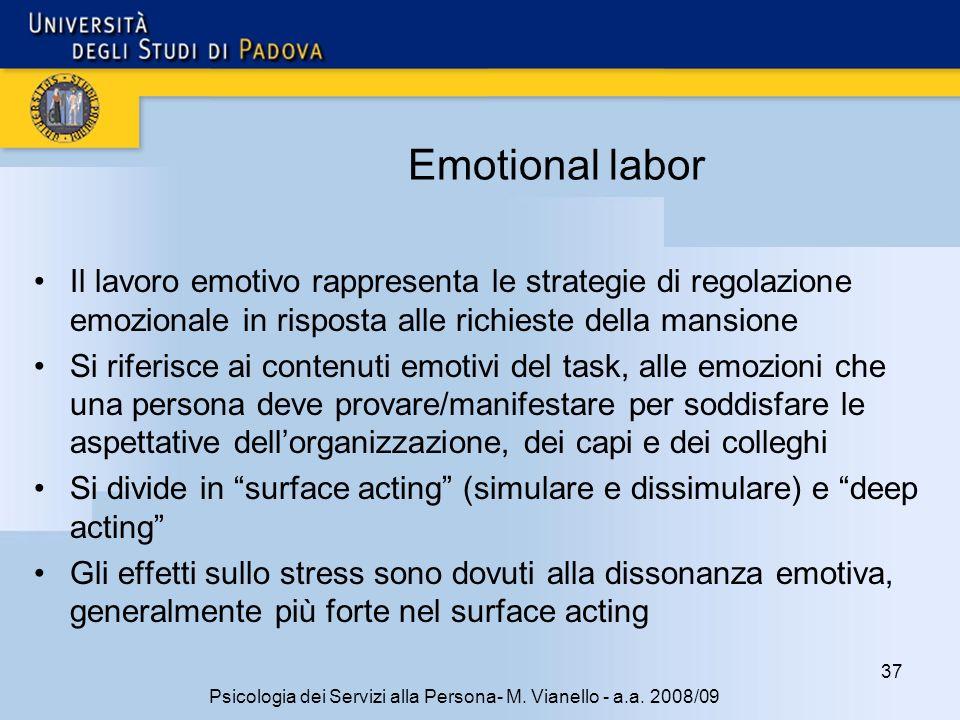 37 Psicologia dei Servizi alla Persona- M.Vianello - a.a.