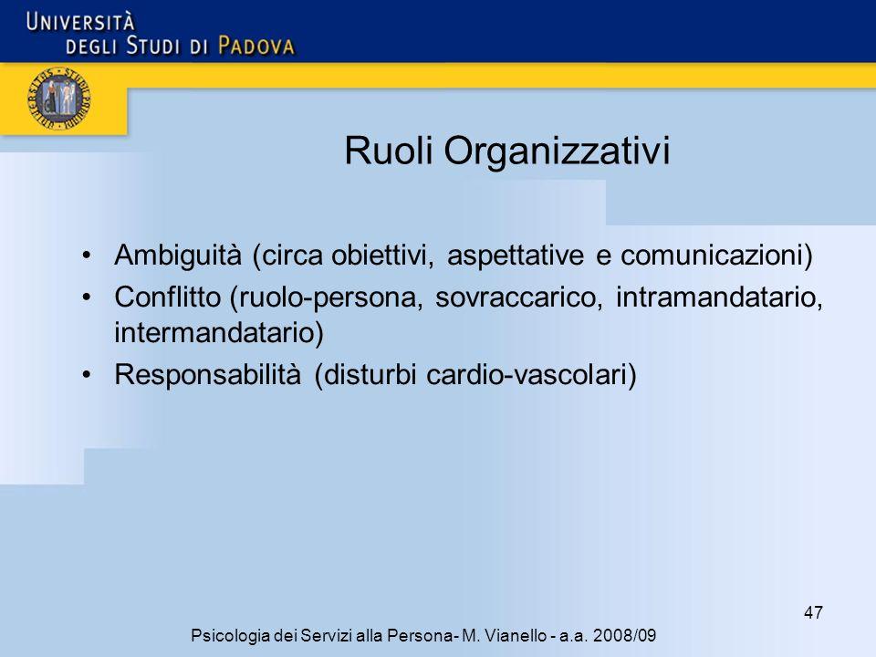 47 Psicologia dei Servizi alla Persona- M.Vianello - a.a.
