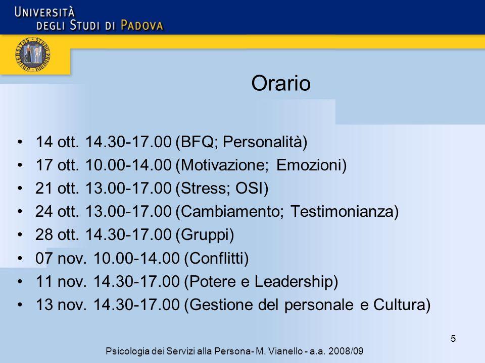 5 Psicologia dei Servizi alla Persona- M.Vianello - a.a.