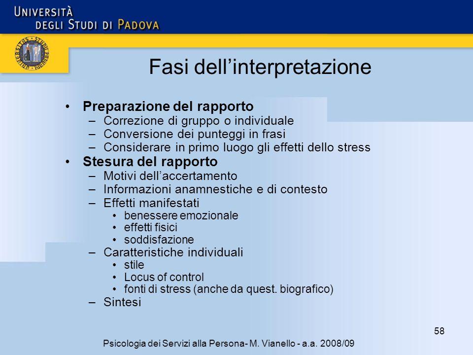 58 Psicologia dei Servizi alla Persona- M.Vianello - a.a.