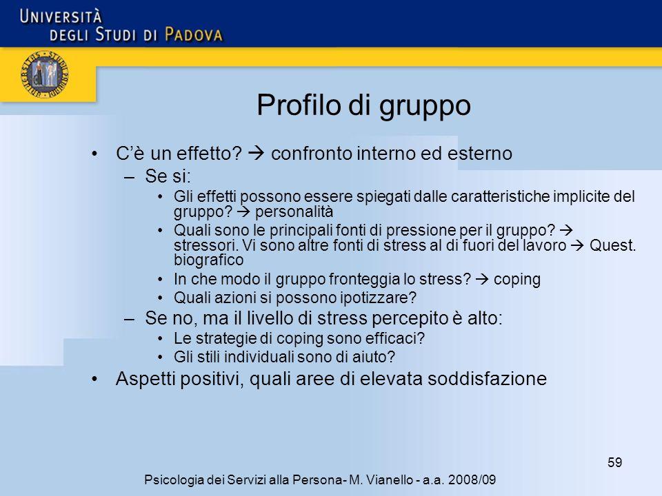 59 Psicologia dei Servizi alla Persona- M.Vianello - a.a.