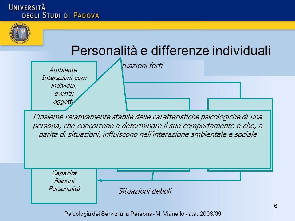 6 Psicologia dei Servizi alla Persona- M.Vianello - a.a.