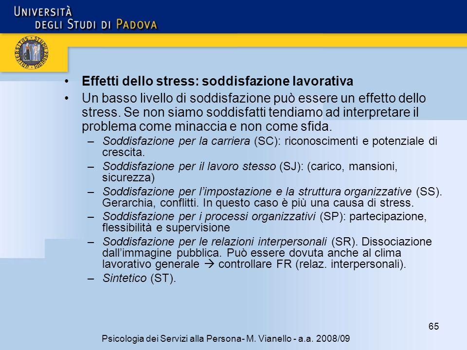 65 Psicologia dei Servizi alla Persona- M.Vianello - a.a.