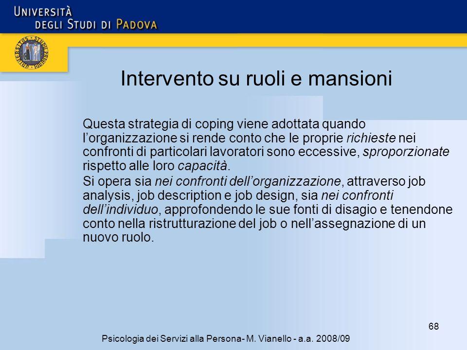 68 Psicologia dei Servizi alla Persona- M.Vianello - a.a.