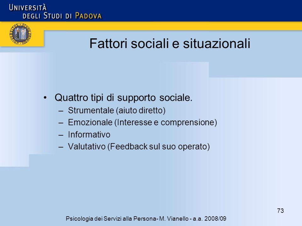 73 Psicologia dei Servizi alla Persona- M.Vianello - a.a.