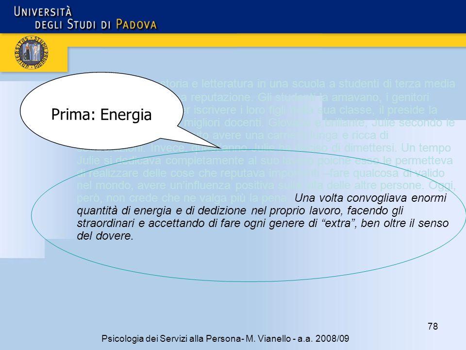 78 Psicologia dei Servizi alla Persona- M.Vianello - a.a.