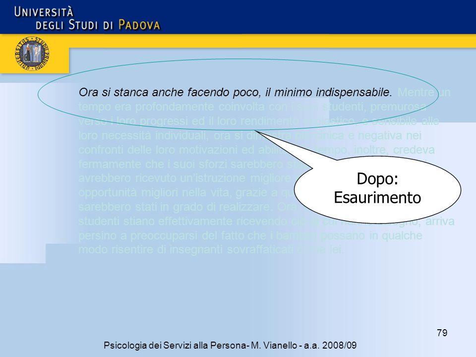 79 Psicologia dei Servizi alla Persona- M.Vianello - a.a.