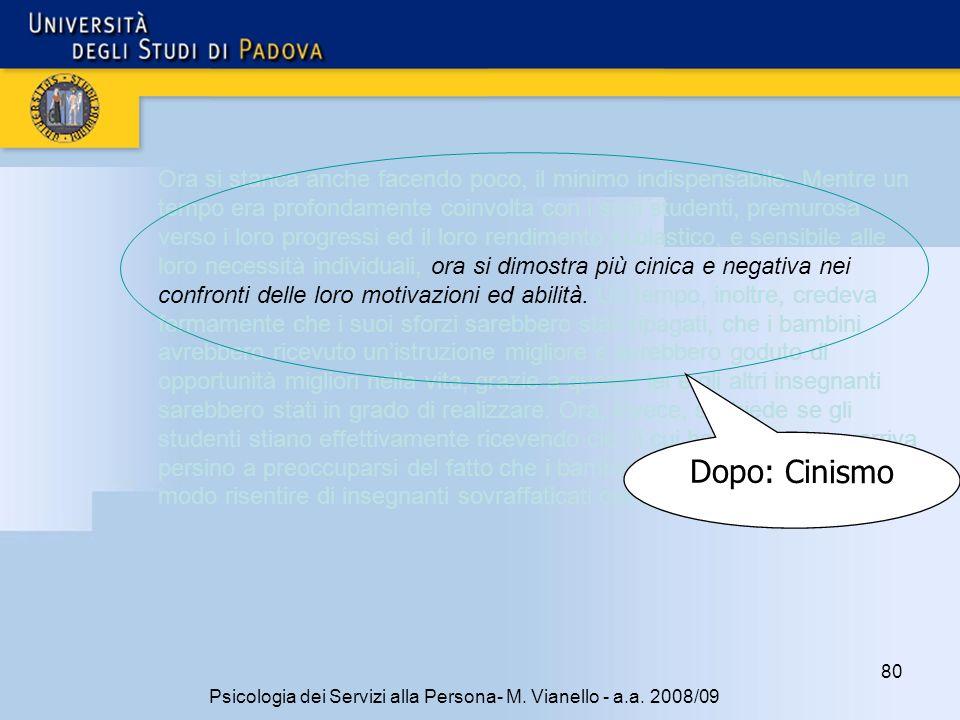 80 Psicologia dei Servizi alla Persona- M.Vianello - a.a.