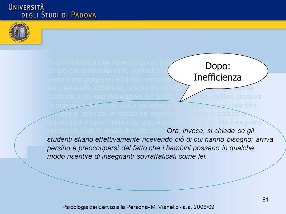 81 Psicologia dei Servizi alla Persona- M.Vianello - a.a.