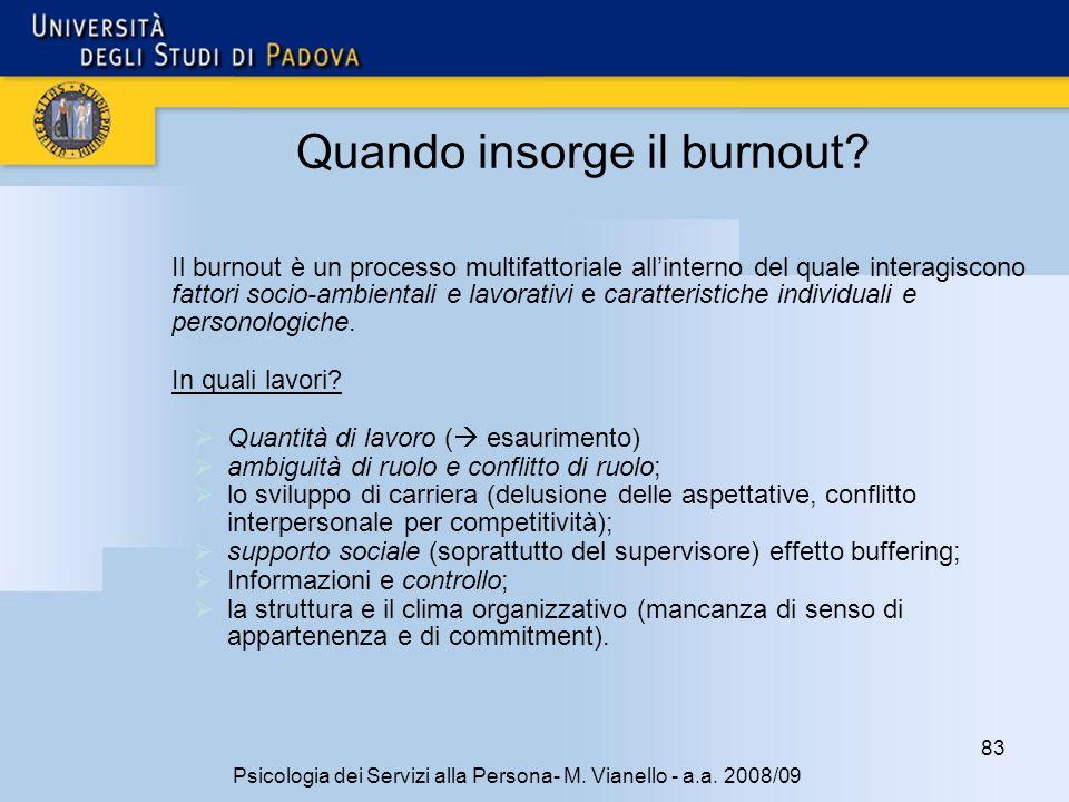 83 Psicologia dei Servizi alla Persona- M.Vianello - a.a.