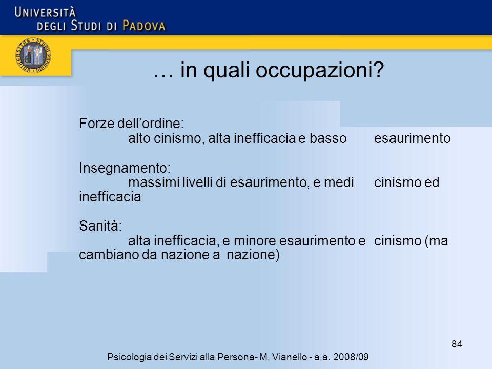 84 Psicologia dei Servizi alla Persona- M.Vianello - a.a.