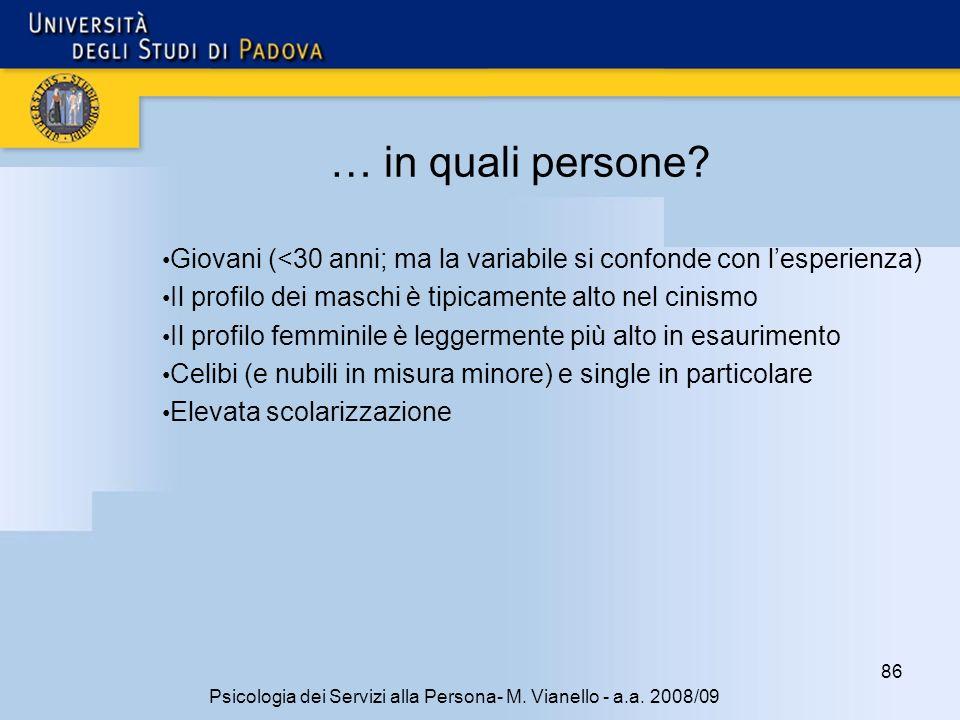 86 Psicologia dei Servizi alla Persona- M.Vianello - a.a.